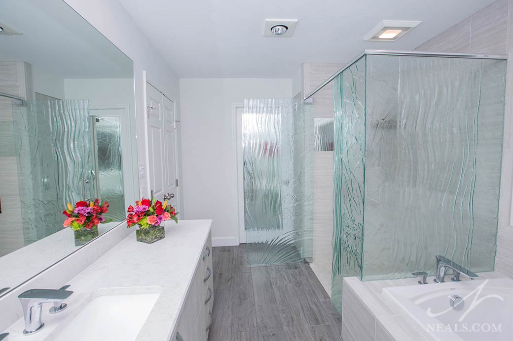 A bathroom remodel in Sycamore Township, Cincinnati, Ohio.