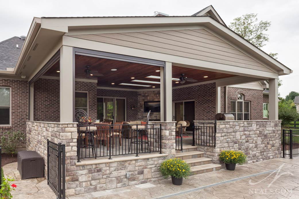 A back porch extension in Blue Ash, Ohio.