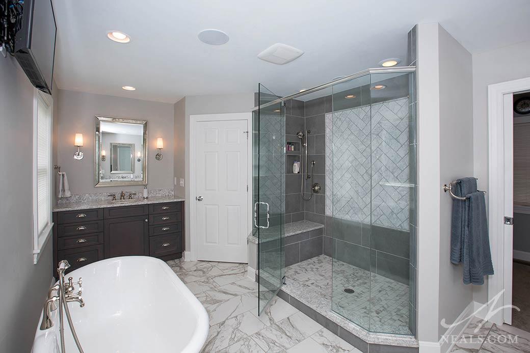 Gray White Transitional Bath