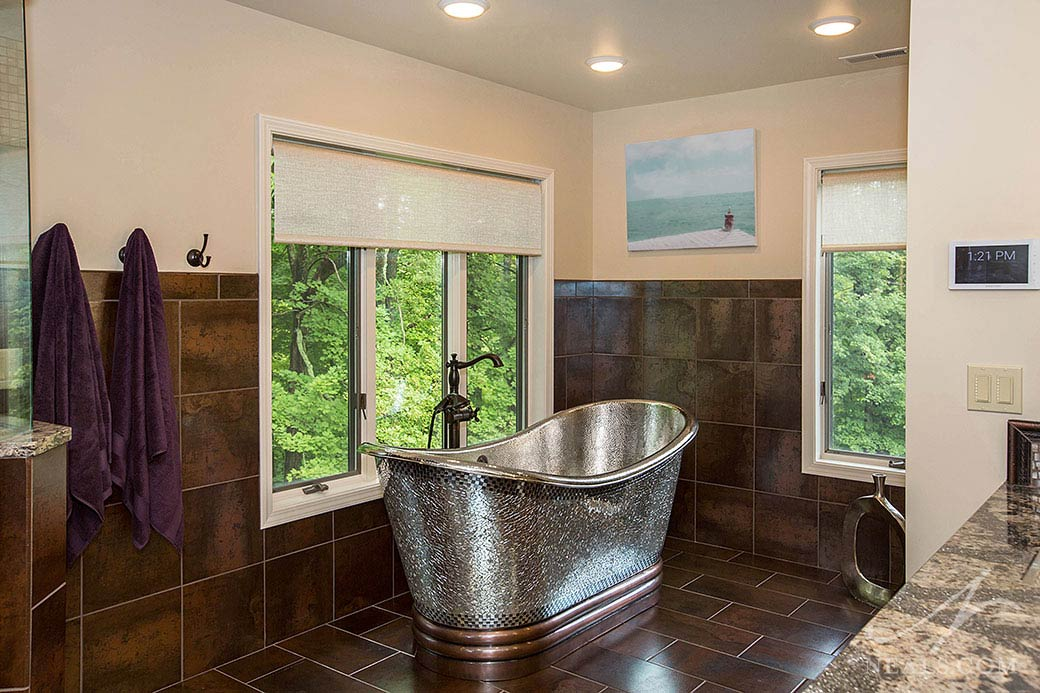 A double bathroom and closet remodel in Indian Hill, Ohio.