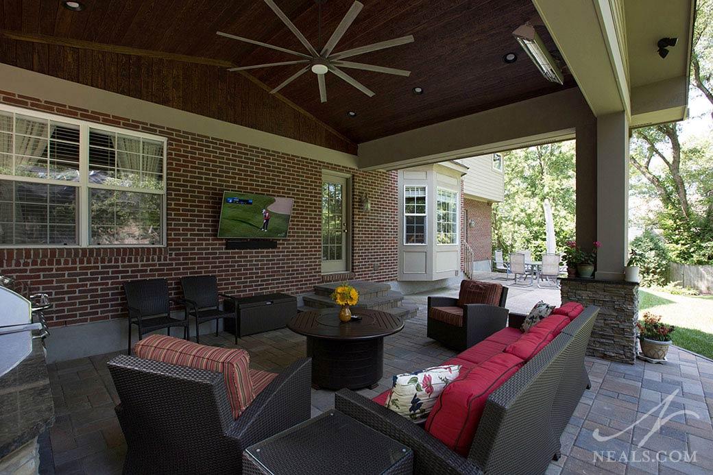 A backyard addition in Blue Ash, Ohio.