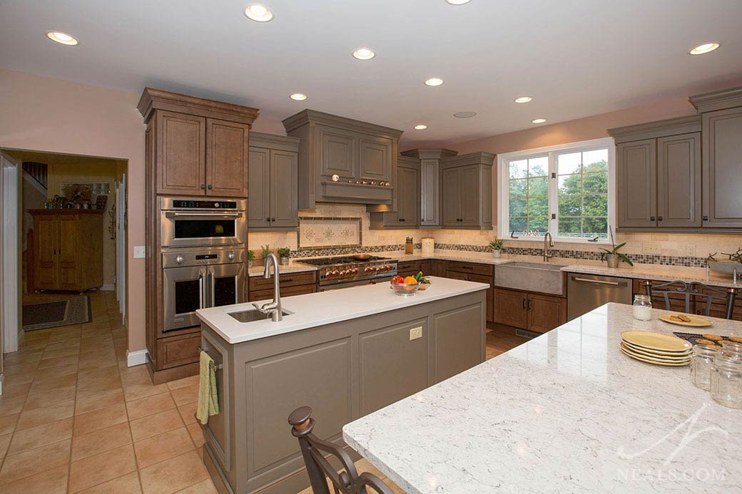 Gray and Brown Traditional Kitchen remodel in Morrow OH