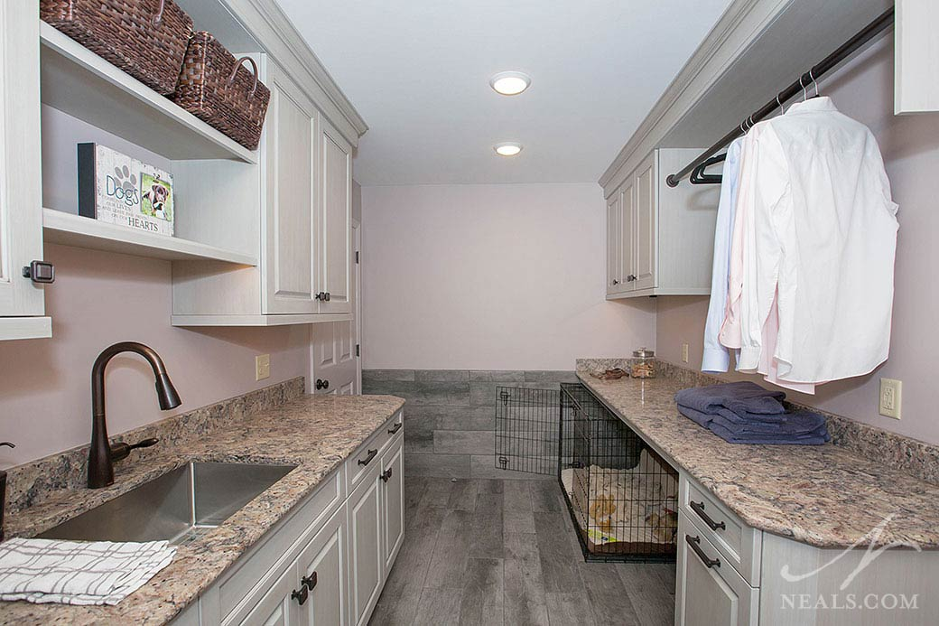 Chic Pet-Friendly Laundry remodel in Indian Hill, OH