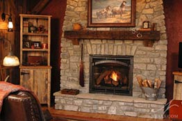 Barn Room Fireplace