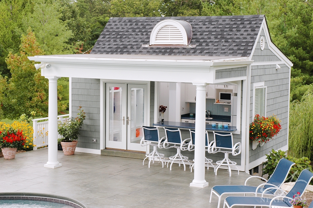 Nantucket inspired pool house mt washington oh for Cool pool house ideas