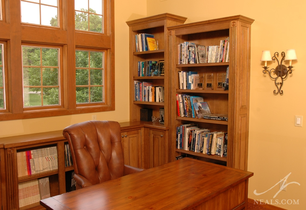 A home library remodel in Indian Hill, Ohio.