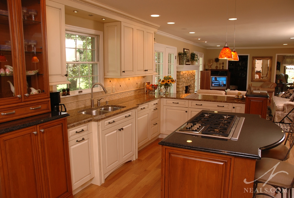 kitchens with two different colored countertops open amp kitchen remodel montgomery oh 9635