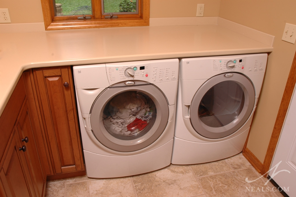 A stylish laundry room in Covedale, Ohio.