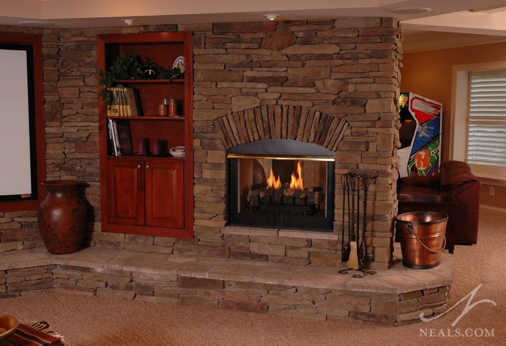 How replace fireplace you do logs gas often