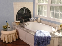 Master Bath After, new tub with fireplace