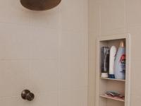 Shower interior with niches