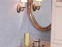 Romantic, Traditional Styling in Master Bath