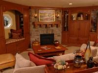 Cozy Den Fireplace