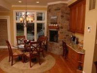 Cozy Kitchen Fireplace