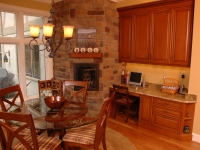 Cozy Kitchen Fireplace