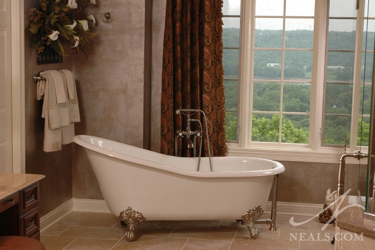 Bath with a Stunning View in Covedale, Ohio.