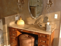 Master Bath Make-up Vanity After