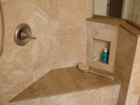 Shower Seat with niche