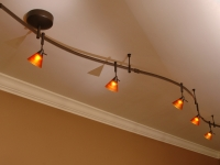 Track Lighting in Game Room