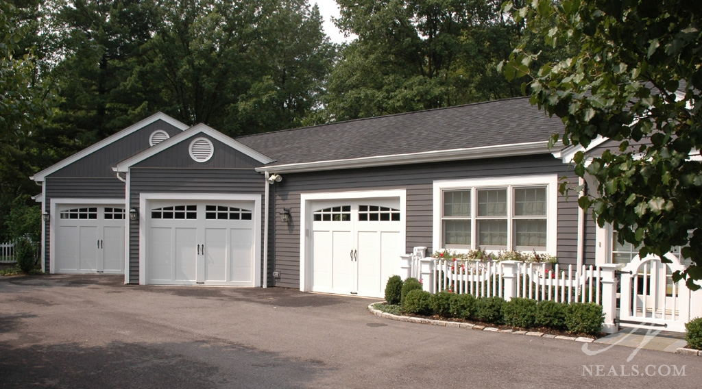 A garage transformation in Indian Hill, Ohio.