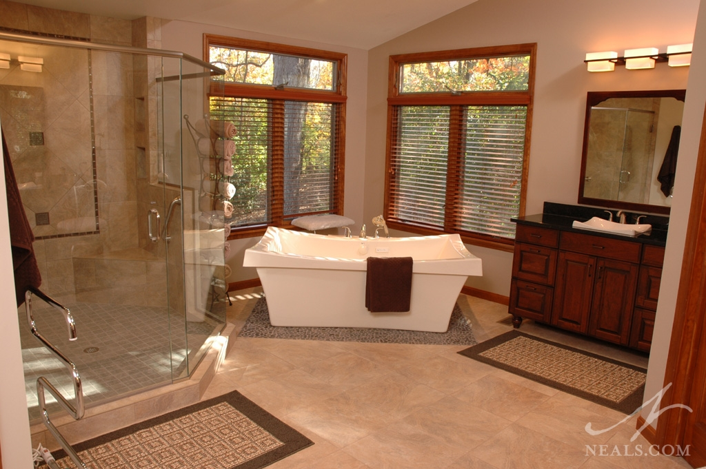 An Asian Inspired Master Bath In West Chester, Ohio.