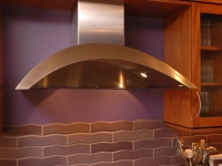 Modern Vent Hood and tile backsplash