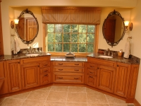 Custom Double Vanity in Master Bathroom