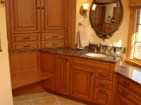 Master Bathroom Cabinetry with Seat