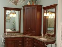 Double corner vanity