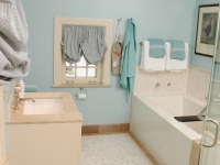 Bathroom After, expanded into hallway