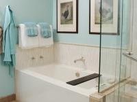 Tub with custom tile surround