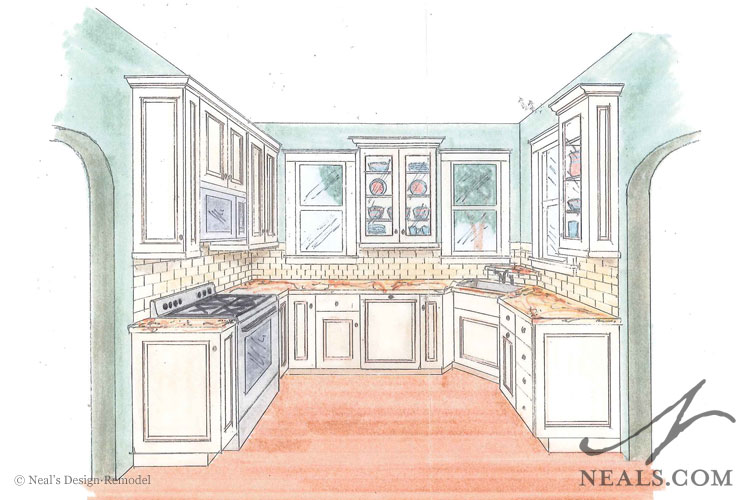 Kitchen Drawing Perspective turn of century kitchen remodel | clifton, oh