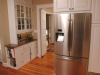Updated appliances in a turn of the century kitchen