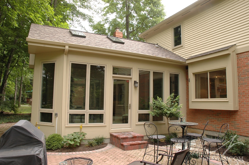 A three-season sunroom addition in Loveland, Ohio.