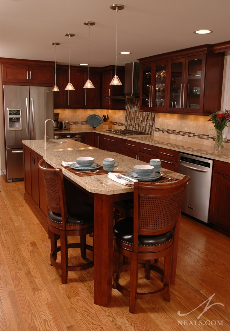 Warm Contemporary Kitchen Montgomery Oh