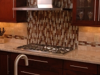 Stainless Steel Hood With Accent Tiles