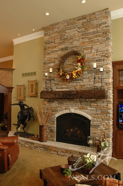 Great Room Before  Great Room Floor to Ceiling Stone Fireplace   Withamsville  OH. Great Room With Fireplace. Home Design Ideas