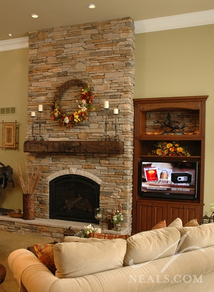 Outdoor Living Rooms With Fireplace