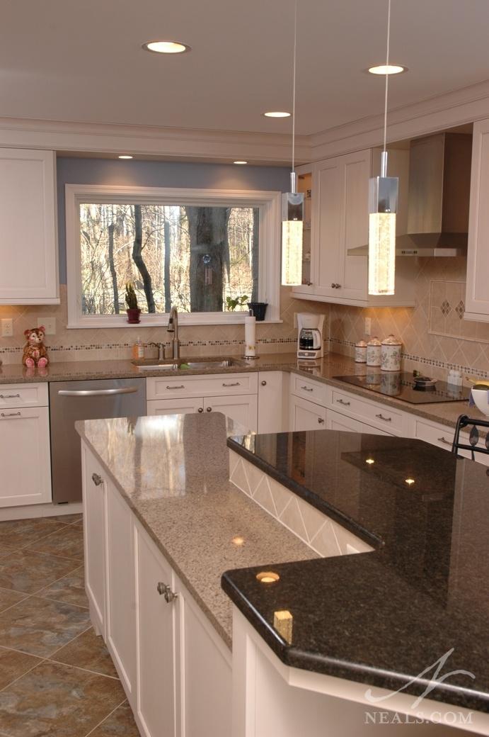 White Transitional Kitchen 171 Neals Design Amp Remodel