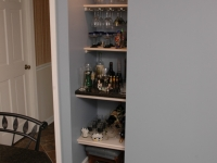 Bar Niche in old closet space