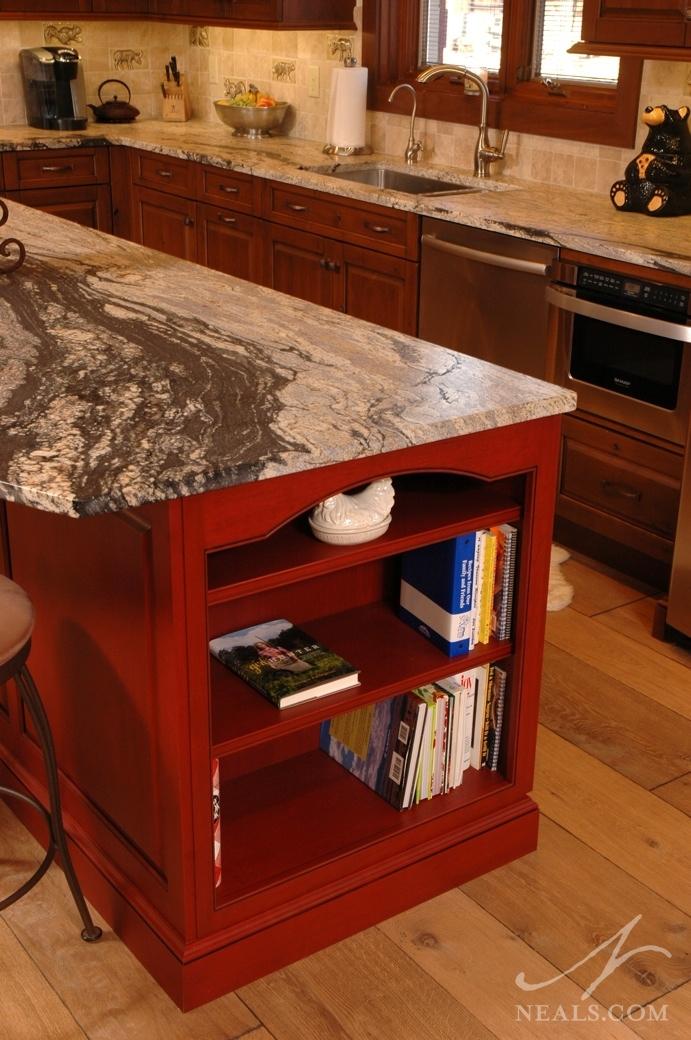Kitchen Island Shelving Detail