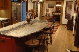Remodeled Rustic Kitchen Island