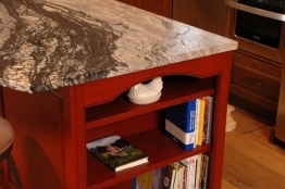 Kitchen Island Shelving Detail
