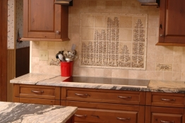 Nature-Inspired Backsplash