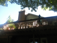Before, existing deck from below