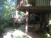 Before, patio under deck
