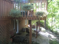 Before, existing deck
