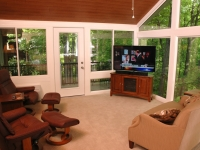 Sunroom entry from deck