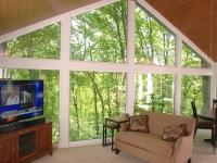 Vaulted windows in sunroom