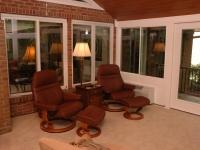 Interior windows in sunroom